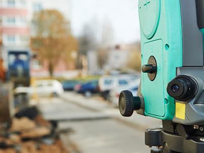Zielone urządzenie do pomiaru odległości